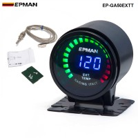 "New ! Epman Racing 2"" 52mm Smoked Digital Color Analog LED Exhaust Gas Temp Temperature EXT Gauge With Sensor EP-GA50EXTT"