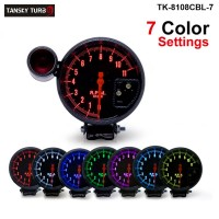 "Tansky - 5"" Rpm Auto Gauge / Tachometer 7 COLOR LED AUTO GAUGE/CAR METER/AUTO METER TK-8108CBL-7"