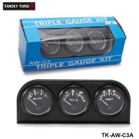TANSKY - 52mm 3in1 kit Oil Temp Gauge Water Temp Gauge Temperature Oil Pressure Gauge TK-AW-C3A