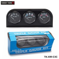 TANSKY - 52MM 3 In 1 Volt meter +water temp gauge +Oil Pressure Gauge Kit car meter With Sensor TK-AW-C3C