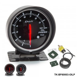 BF 60mm LED Oil Pressure Gauge High Quality Auto Car Motor Gauge with Red & White Light TK-BF60003-OILP