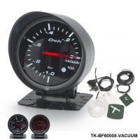 BF 60mm LED Vacuum Gauge High Quality Auto Car Motor Gauge with Red & White Light TK-BF60008-VACUUM