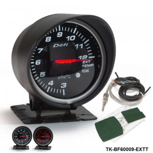 BF 60mm LED Exhaust Gas Temp EXT Gauge Auto Car Motor Gauge with Red & White Light TK-BF60009-EXTT