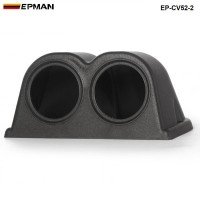 2 GAUGE TRIPLE GAUGE PANEL 52MM HOLDER COVER (2pcs-52mm black ) EP-CV52-2