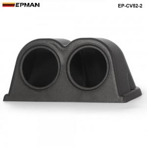 2 GAUGE TRIPLE GAUGE PANEL 52MM HOLDER COVER (2pcs-52mm black ) EP-CV52-2