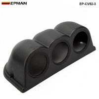 3 GAUGE TRIPLE GAUGE PANEL 52MM HOLDER COVER (3pcs-52mm black )  EP-CV52-3