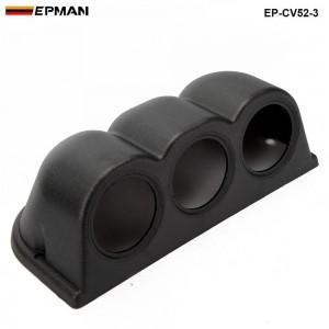 3 GAUGE TRIPLE GAUGE PANEL 52MM HOLDER COVER (3pcs-52mm black )  EP-CV52-3
