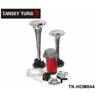 Tansky - Silver Loud 12V 135db Twin Trumpet Air Horn & Compressor Set Kit Car Boat Truck TK-HOM044