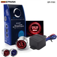 PIVOT Blue / Red Illumination Car Engine Start Push Button Switch Ignition Starter Touch Kit TK-YY01