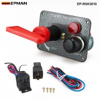Racing Switch Kit Car Electronicl/Switch Panels-Flip-up Start/Ignition/Accessory EP-RSK3010