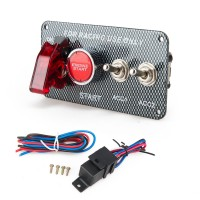Racing Car Electronics Switch Kit Panel Engine Start Button toggle with accessory EP-RSK3014