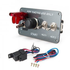 12V Ignition Switch Panel Engine Start Push Button LED Toggle  Switch for Racing Car EP-RSK3016