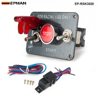 12V Ignition Switch Panel Engine Start Push Button LED Toggle for Racing Car EP-RSK3020
