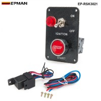 Racing Switch Kit Car Electronicl/Switch Panels-Flip-up Start/Ignition/Accessory EP-RSK3021
