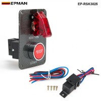 Racing Switch Kit Car Electronicl/Switch Panels-Flip-up Start/Ignition/Accessory EP-RSK3025