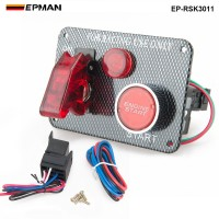 12V Red LED Racing Car Engine Start Push Button Ignition Switch Panel Toggle Hot EP-RSK3011