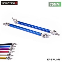 TANSKY - 2PCS/SET Universal Racing 75mmFront Bumper Lip Splitter Rod Strut Tie Bar Support Kit Bumpers EP-BWLG75