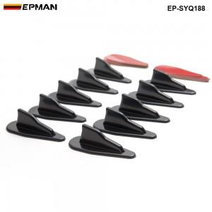 EPMAN -10pcs/lotBumper Diffuser windshield Roof Spoiler Vortex Generator  EP-SYQ188