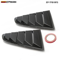EPMAN -2PCS/SET Sand Sprayed Or Specular or Carbon Fiber Side Window Quarter Scoop Louver Cover For Ford Mustang 2015-17 GT EP-TFB15FD