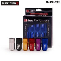 1set/unit D1 LIGHT WEIGHT WHEEL RACING LUG NUTS M12X1.25 / M12X1.5 L:40mm (20pcs/set) (Blue/red/black/gold/silver/purple)  TK-210NUTS