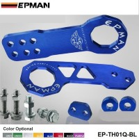 EPMAN Anodized Billet Aluminum Front+Rear Tow Hook Kit for universal car EP-TH01Q