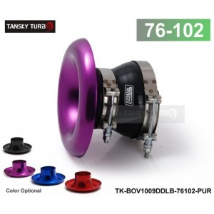 """TANSKY - Universal PURPLE Inlet 4"""" 102MM Velocity Stack Aluminum RAM Air Intake Composite With Clamps And Slicone hose TK-BOV1009DDLB-76102"""