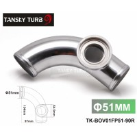 "Tansky -- 2""51mm 90 degree Flange Pipe Fit For Type-2 II 2 Adjustable SQV BOV Blow Off Valve TK-BOV01FP51-90R"