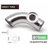 "Tansky -- 3"" 76mm 90 degree Flange Pipe Fit For Type-2 II 2 Adjustable SQV BOV Blow Off Valve TK-BOV01FP76-90R"