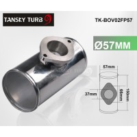 "57MM 2.25"" BOV BLOW OFF VALVE FLANGE T MOUNTING PIPE TK-BOV02FP57"
