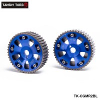 TANSKY -2Pcs/SET For Toyota Celica/MR2/3S-GTE Adjustable Aluminium Camshaft Cam Gear Blue TK-CGMR2BL