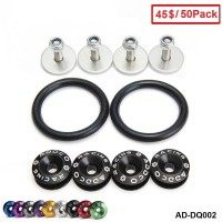 ADDCO - 50PACK/LOT JDM Aluminum Quick Release Fasteners Kit Fit FOR TRUNK/HATCH LIDS/BUMPER AD-DQ002