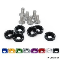 TANSKY - D1 Spec 6PCS/SET M8 Hex Fasteners Fender Washer Bumper Engine Concave Screws JDM D1-DP02D