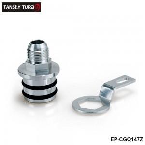 TANSKY - Engine Billet Aluminum Block Plug Adapter Breather Fitting to 10AN Fit For Honda Integra B16/B18 Engines only EP-CGQ147Z