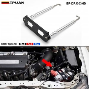 EPMAN Battery Tie Down Kit Hold Down Rod With Stainless Tray Hooks For Honda Civic / CRX S2000 For Acura Integra RSX EP-DPJ003HD