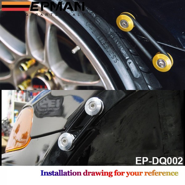 EPMAN Quick Release Fasteners are ideal for front bumpers, rear bumpers, and trunk / hatch lids EP-DQ002