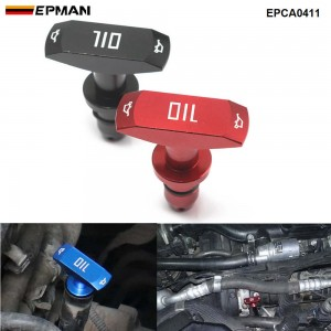 EPMAN Billet Oil Dipstick Pull Handle Replacement For Ford Mustang GT V8 GT500 EPCA0411