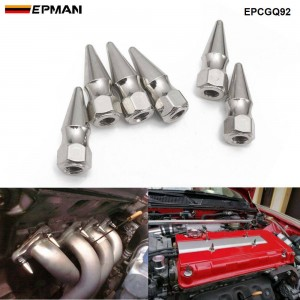 EPMAN 6PCS/Bag Spiked Valve Cover Chrome Spikes Bolt M8X1.25 Engine Bay Dress Up Washer Kit for Compatible Engine Exhaust ECT EPCGQ92
