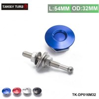 "TANSKY -1.25"" Universal JDM Style Push Button Billet Hood Pins Lock Clip Kit Car Quick Pins For BMW ect TK-DP016M-32"