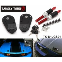 Tansky - D1 JDM Plus Flush Hood Latch and Pin Kit Racing Latch Locks Locking Hood Kit TK-D1JGS01 / TK-D1 GENERATION01