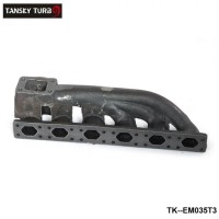 TANSKY -For BMW 323i 325i 328i 330i M3 E36 V6 T3 Iron Cast Exhaust Turbo Manifold 38mm Wastegate Flange TK-EM035T3
