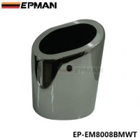 EPMAN 1Pc Chrome Stainless Steel Exhaust Muffler Tip For BMW 10-13 X1 sdrive 18i E84 EP-EM8008BMWT