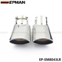 EPMAN 2 Pcs Chrome Stainless Steel Exhaust Muffler Tip For Land Rover 05-12 Range Rover Diesel EP-EM8043LR