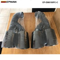 EPMAN 2pcs/set Black Modified Car Vehicle Exhaust Tail Muffler Tip Stainless Steel Pipe For Porsche 15 Cayenne EP-EM8100PC-C