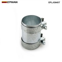 "EPMAN- 2.5"" Exhaust Tube Pipe Connector Joiner 304 SS Clamp Connector 64 mm EPLJG64ST"