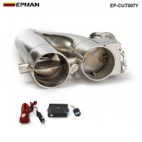 "EPMAN -Patented Product 2"" / 2.25"" / 2.5"" / 3"" Electric Exhaust Downpipe Cutout E-Cut Out Dual-Valve Controller Remote Kit EP-CUT007Y"