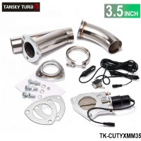 "TANSKY -3.5"" Electric Cutout/E-Cut Out Valve System W/O Remote for Exhaust Catback/Downpipe TK-CUTYXMM35"
