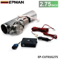 "EPMAN 2.75"" I Type Electric Exhaust Catback Downpipe E-Cutout Valve System Remote Kit EP-CUT01G275"