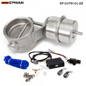 """EPMAN - Exhaust Control Valve Set With Vacuum Actuator CUTOUT 2"""" 51mm Pipe CLOSE STYLE with Wireless Remote Controller Set EP-CUT51-CL-DZ"""
