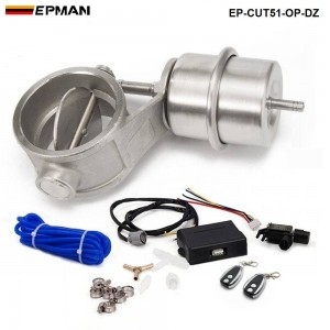 """EPMAN - Exhaust Control Valve Set With Vacuum Actuator CUTOUT 2"""" 51mm Pipe OPEN STYLE with Wireless Remote Controller Set EP-CUT51-OP-DZ"""