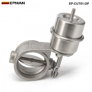 EPMAN - NEW vacuumActivated Exhaust Cutout 2'' 51MM Open Style Pressure: about 1 BAR EP-CUT51-OP